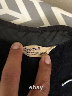 Vintage 30s Brown's Beach Cloth Jacket Salt and Pepper Vest Wool Snap