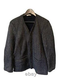 Vintage 50s Brown's Beach Cloth Jacket Salt and Pepper Jacket Wool Snap