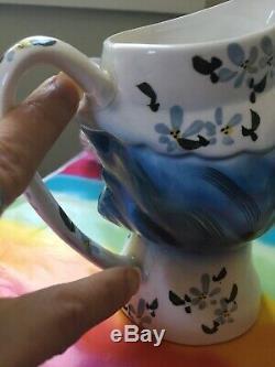 Vintage 8pc Lefton Miss Priss Kitty Cat Cookie Jam Jar Salt Pepper Japan