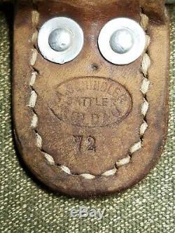 Vintage A Schindler 72 Swiss Swedish Leather Canvas Backpack Bag Salt Pepper