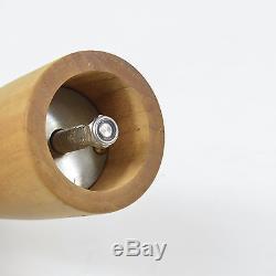Vintage ALESSI TWERGI Dansk Danish Italian Modern Wood Push PEPPER Grinder Mill