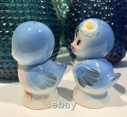 Vintage Anthropomorphic Lefton Topline Imports Bluebird Salt and Pepper Shakers