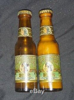Vintage Apache Beer Salt And Pepper Shaker Pair / Set Arizona Brewing CO 1940s