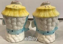 Vintage Brinnco Porcelain Lamb Salt and Pepper Shakers Japan #BN435 minor chips