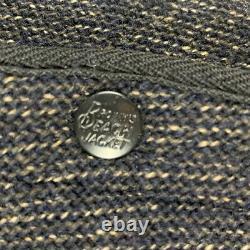 Vintage Browns Beach Vest Jacket Antique 1940s 50s Salt & Pepper Button USA 48