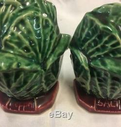 Vintage Cabbage Mccoy Grease Or Cookie Jar And Matching Salt And Pepper