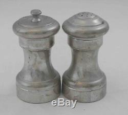 Vintage Cartier Sterling Silver Pepper Grinder and Salt Shaker Pair Unpolished