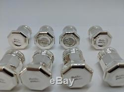 Vintage Cartier Sterling Silver Salt and Peppers Shakers Set of 8 Box Included