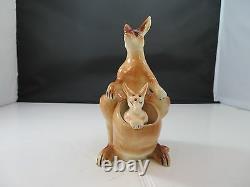 Vintage Ceramic Kangaroo & Joey Salt & Pepper Shaker Made in Japan