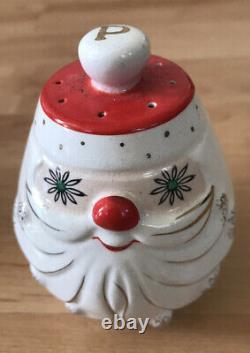Vintage Christmas Holt Howard 1960 Starry Eyed Santa Salt & Pepper Shaker Atomic