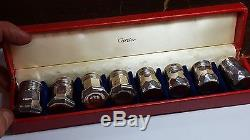 Vintage Collection of Cartier Sterling Silver Salt and Pepper Shakers 2872