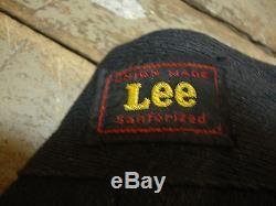 Vintage Deadstock 1950 Lee Black Salt & Pepper Work Pants Model 1719 Workwear
