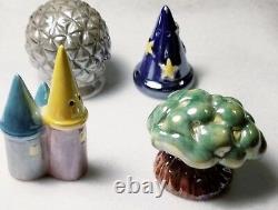 Vintage Disney Salt & Pepper Shakers 4 Parks (Rare Set withSorcerers Hat!)