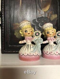 Vintage Enesco Sweet Shoppe Cupcake Girl Salt Pepper