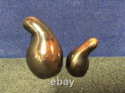 Vintage Eva Zeisel Shmoo Brown Salt and Pepper Shakers Red Wing Town and Country
