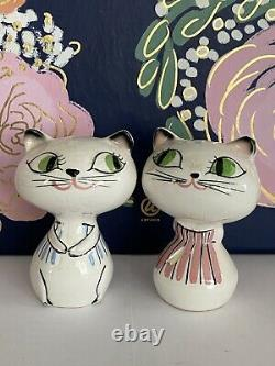 Vintage HOLT HOWARD Cozy Kitten Cat Couple Pixieware Salt & Pepper Mid-Century