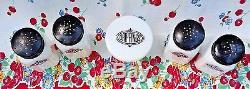 Vintage Hazel Atlas Milk Glass Range Set Salt Pepper Flour Sugar And Dripping
