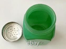 Vintage Hocking Fired-on Green Salt Pepper Flour Sugar Shakers Range Set