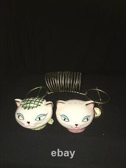 Vintage Holt Howard Cozy Kitten Napkin Holder Salt Pepper Shaker Pixieware Cat