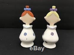 Vintage Holt Howard Jolly Floral Girls Pixieware Salt & Pepper Shaker Set Pixie