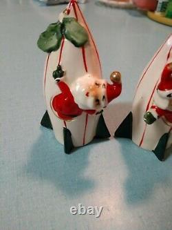 Vintage Holt Howard Rocket Ship Christmas Salt And Pepper Shakers Made In Japan