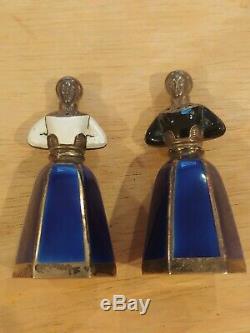 Vintage J. Tostrup Oslo Norway Sterling Silver 925 Figure Salt & Pepper Shakers