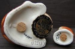 Vintage Kangaroo and Joey Salt SOUVENIR Ceramic Salt and Pepper Shaker Set JAPAN