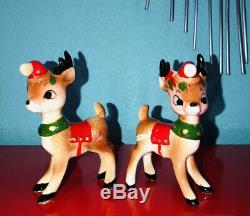 Vintage Kreiss Reindeer Salt & Pepper Shakers Japan