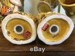 Vintage Lefton China Mushroom Forest Cookie Jar, Salt/Pepper Shaker, 6 mugs set