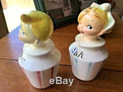 Vintage Lefton Pixie Salt & Pepper Shakers
