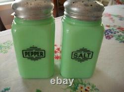 Vintage McKee Jadeite Salt and Pepper Shakers
