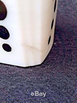 Vintage Mckee White With Black Dots Roman Arch Salt Pepper Flour Sugar Shakers