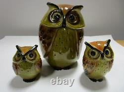 Vintage Metlox Poppytrail Owl Cookie Jar Salt & Pepper Shaker Mid Century Kitsch