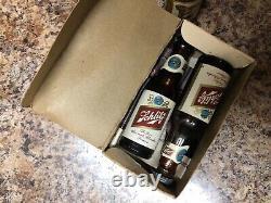 Vintage Mini Beer Bottle Salt and Pepper Shakers Bud Falstaff