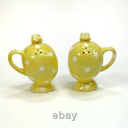 Vintage Napco Miss Cutie Pie Yellow Girl Salt and Pepper Shakers