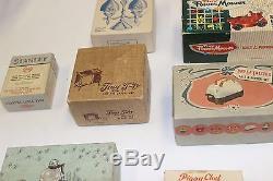 Vintage Novelty Salt & Pepper Sets 1950's Tiny Television, Toaster, Lawn Mower
