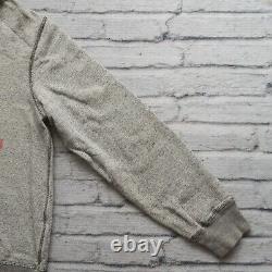 Vintage Polo Ralph Lauren Single V Hoody Sweatshirt Size M Salt Pepper 67