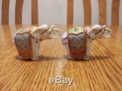 Vintage Porcelain Toshikane Arita Japan Elephant Figures Salt And Pepper Shakers