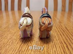 Vintage Porcelain Toshikane Arita Japanese Horse Figures Salt And Pepper Shakers