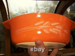Vintage Pyrex 1 1/2 Autumn Harvest Oval Casserole & Butter & Salt & Pepper Set