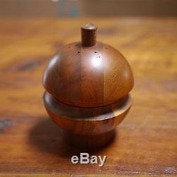 Vintage RARE Dansk Quistgaard Lisbet Teak Wood Salt Shaker Pepper Grinder Mill