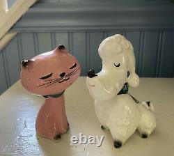 Vintage Rare And HTF Holt Howard Japan Puss And Poodle Salt and Pepper Shakers