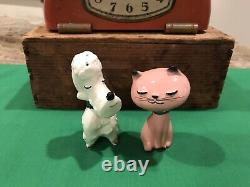 Vintage Rare Holt Howard Puss And Poodle Salt And Pepper Shakers