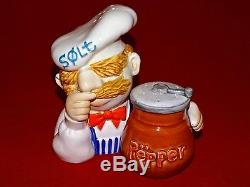 Vintage Rare Muppets Swedish Chef Large Salt & Pepper Shakers 1979 Sigma