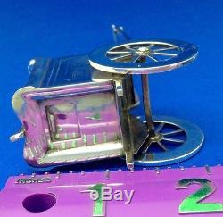 Vintage Rare Sterling Silver Rickshaw Salt & Pepper Shakers
