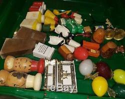 Vintage SALT & PEPPER SHAKER COLLECTION Estate Find LOT OF 98 pcs 45+sets