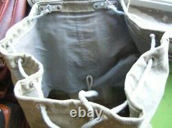 Vintage SWISS ARMY Military Leather Trim Salt & Pepper RUCKSACK/BACKPACK 2