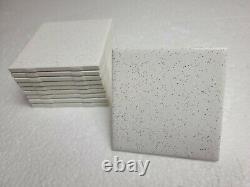 Vintage Salt Pepper Ceramic Tile 4 in White Black Speckled Dots Specs Mosaic
