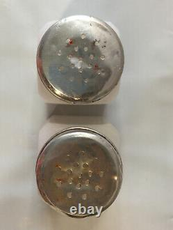 Vintage Salt and Pepper Shakers Advertising Made USA Ned's Package Dial 5-0462