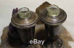 Vintage Sterling Weighted Silver Salt and Pepper Shaker Set by Touch Creation